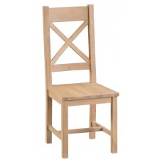 Lombard cross back chair wood seat