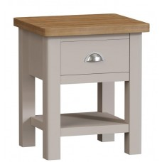 Rachael Oak 1 drawer lamp table
