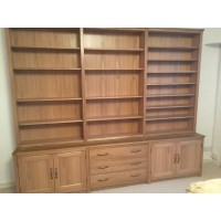 Custom oak bookcases