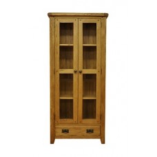 Old Forge Display Cabinet with Glazed Doors and Si