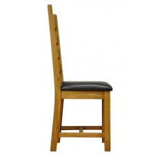 Old Forge Ladder Back Waxed Chair PU Seat