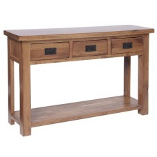 Rustic 3 Drawer Console