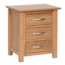Evian 3 Drawer Bedside