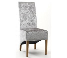Krista Crushed Silver Velvet Chair