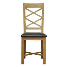 Cranworth Double Cross Back Chair PU