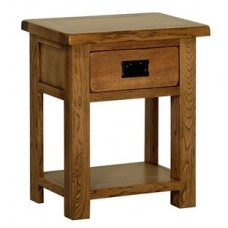 Rustic 1 Drawer Side Table