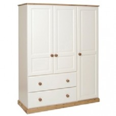 Torridge Painted 2 Drawer Deep Triple Wardrobe