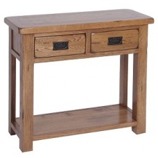 Rustic 2 Drawer Console