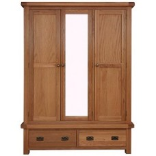 Oldham 3 Door Wardrobe With Mirror