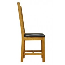 Old Forge Cross Back waxed Chair PU Seat