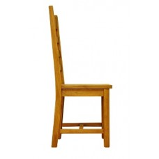 Old Forge Ladder Back Waxed Chair Wooden Seat