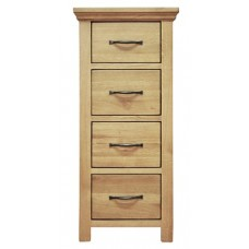 Cranworth Oak 4 Drawer Narrow Chest