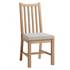 Olga oak Chair With Fabric Seat