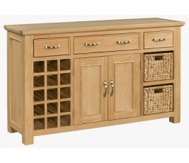 Siena Oak Wine Sideboard