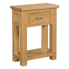 Siena Oak Small 1 Drawer Console